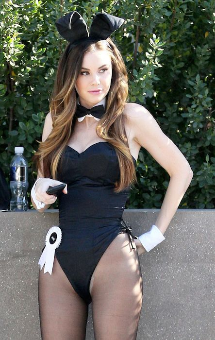 Jayde Nicole dressed as a Playboy Bunny in January 2014.