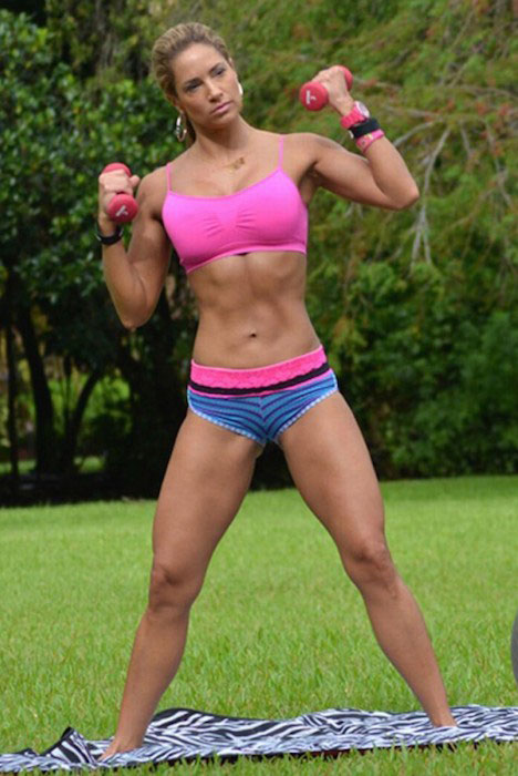 Jennifer Nicole Lee working out