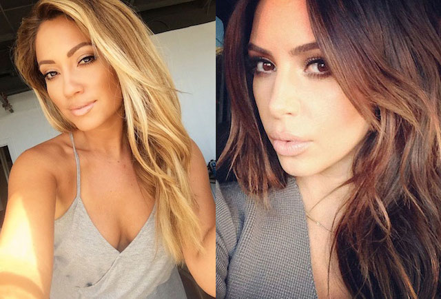 Jessica Burciaga (Left) and Kim Kardashian (Right).