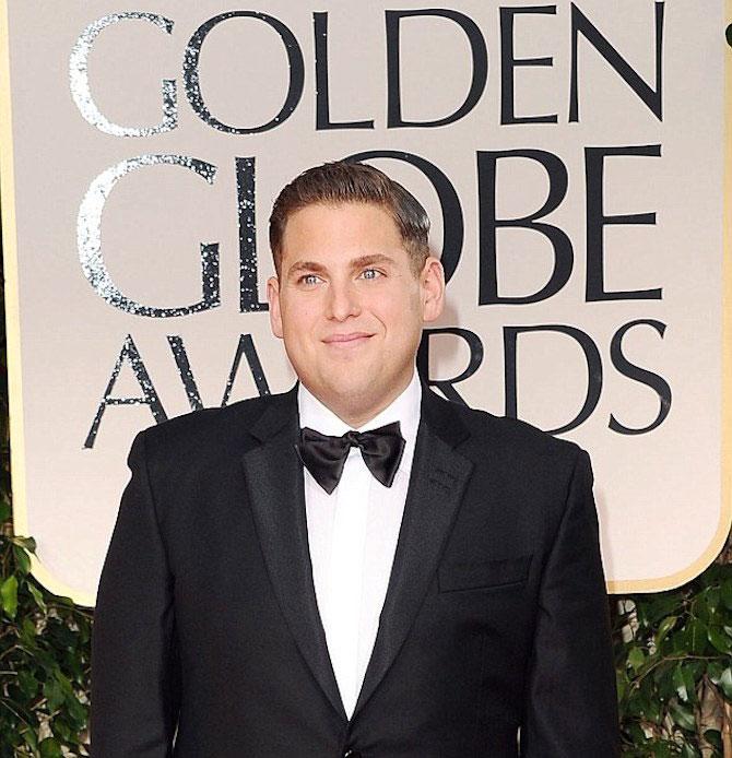 Jonah Hill at 2014 Golden Globe Awards