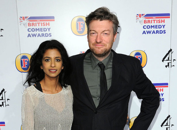 Konnie Huq and Charlie Brooker