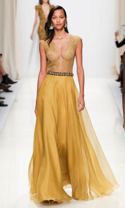 Lais Ribeiro at Valentin Yudashkin Ready to Wear Spring / Summer 2014 Fashion Show at Paris.