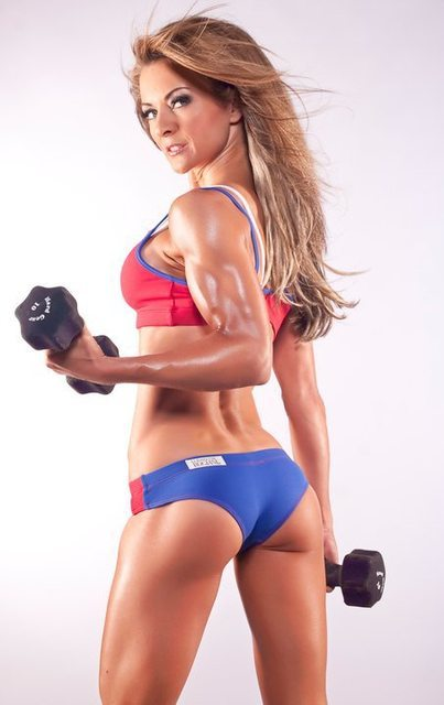 Laura Michelle Prestin working out