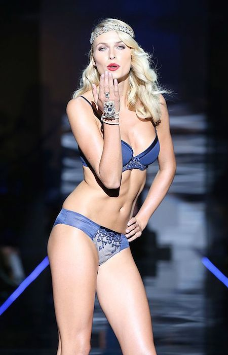 Lena Gercke during a catwalk