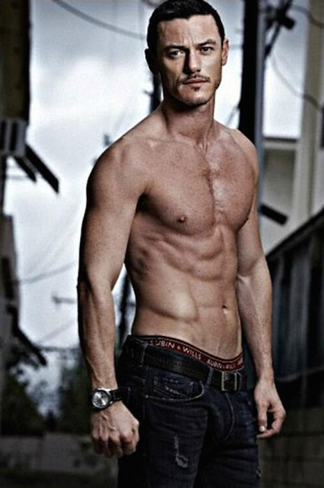 Luke Evans shirtless