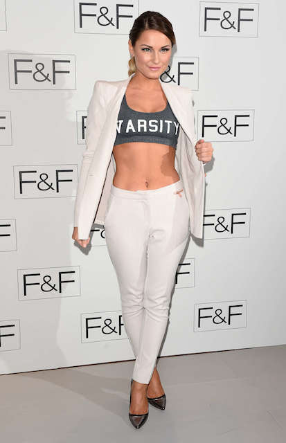 Sam Faiers at F&F 2014 Fashion Show in London.