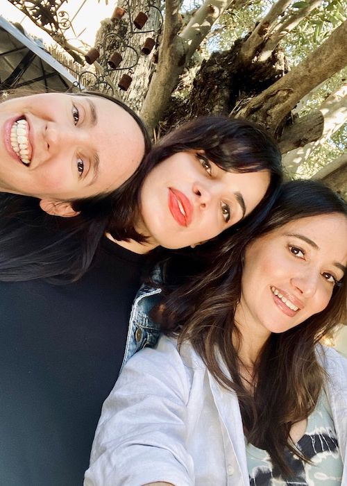 Sara Malakul Lane with her mother friends in November 2019
