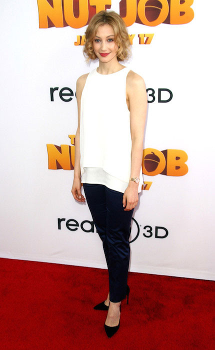 Sarah Gadon during the premiere of Open Road Films' 'The Nut Job'.