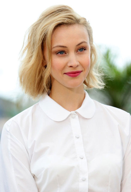 Sarah Gadon attends 'Maps to the Stars' Photocall during 67th Annual Cannes Film Festival.