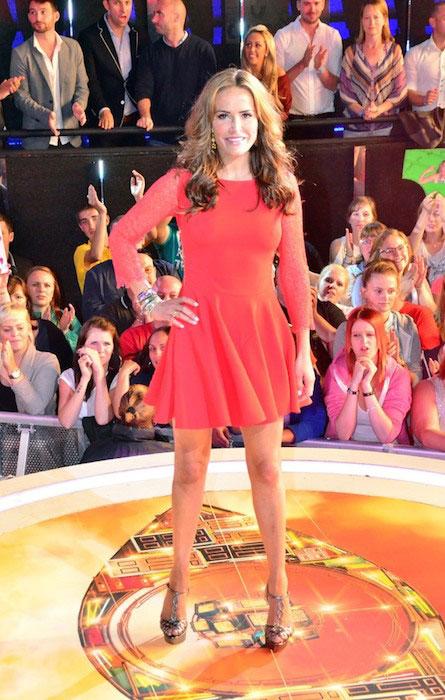 Sophie Anderton at Celebrity Big Brother set