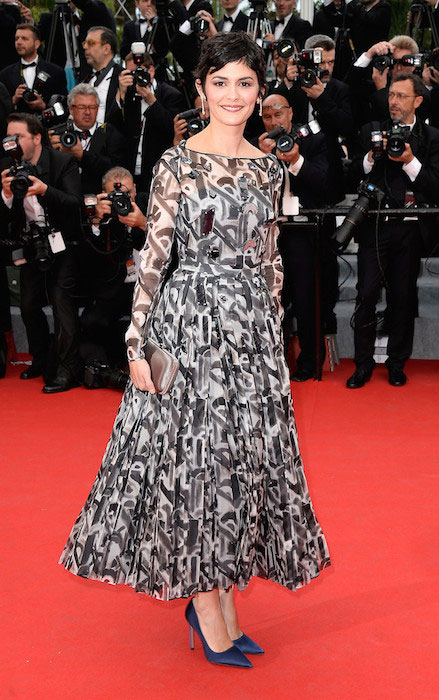 Audrey Tautou at 2014 Cannes Film Festival Opening Ceremony.