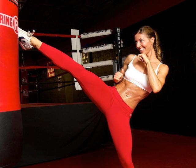 Callie Bundy kickboxing
