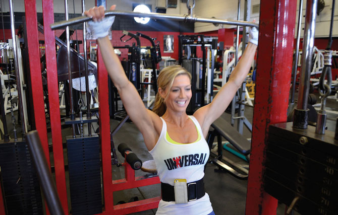 Callie Bundy working out