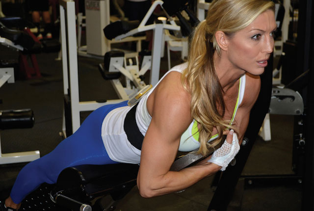 Callie Bundy workout in the gym.