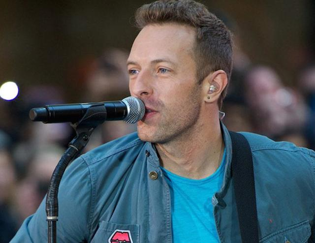 Chris Martin singing