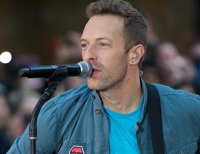 Chris Martin singing
