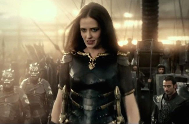 "Eva Green in a still from ""300: Rise of an Empire"""