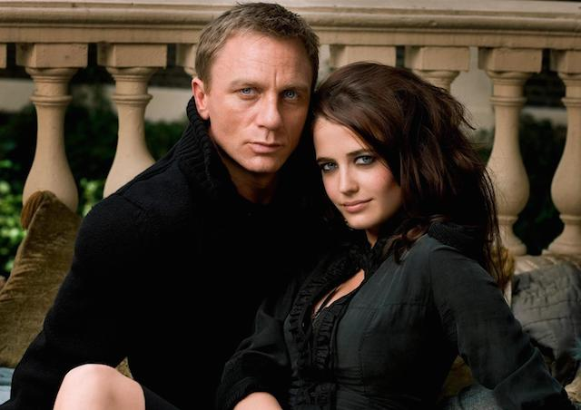 Eva Green with James Bond Daniel Craig.