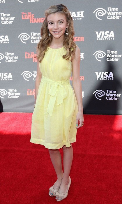 G. Hannelius at the premiere of The Lone Ranger.