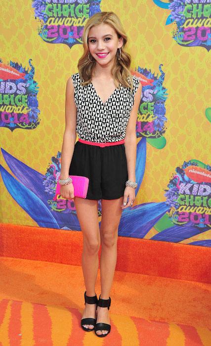 Genevieve Hannelius at 2014 Kids' Choice Awards.