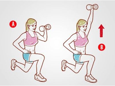Half Kneeling Overhead Dumbbell Press