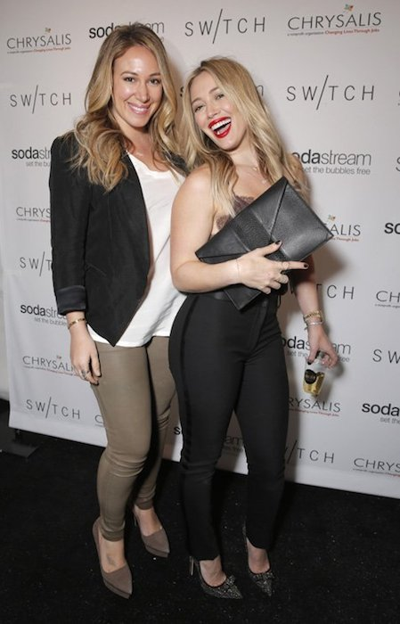 Haylie Duff and sister Hilary Duff (Right).