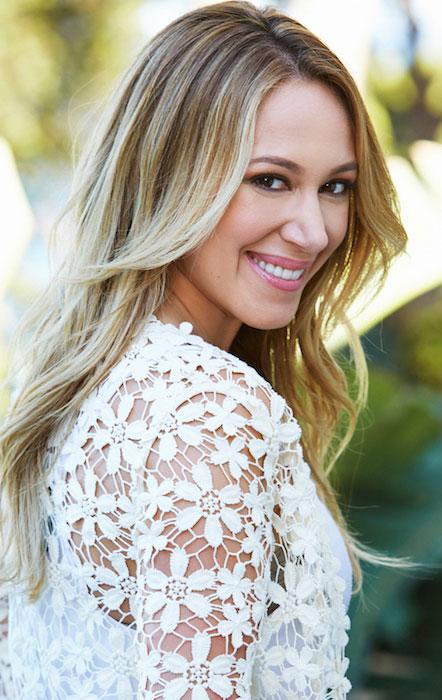 Haylie Duff smiling