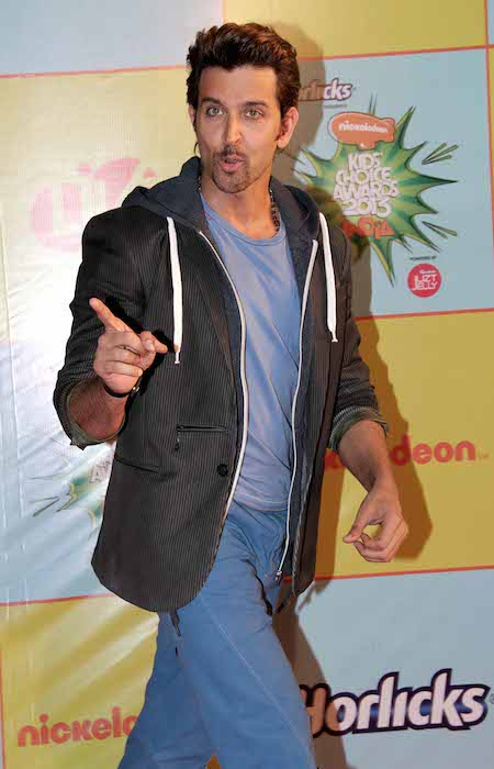 Hrithik Roshan at Nickelodeon Kids Choice Awards 2013.
