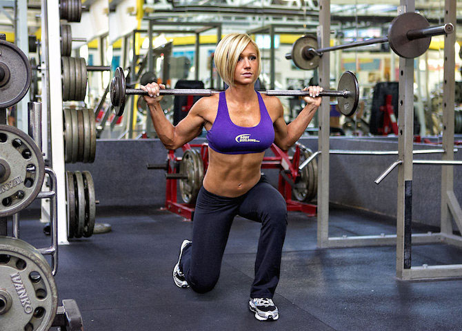 Jamie Eason gym workout.