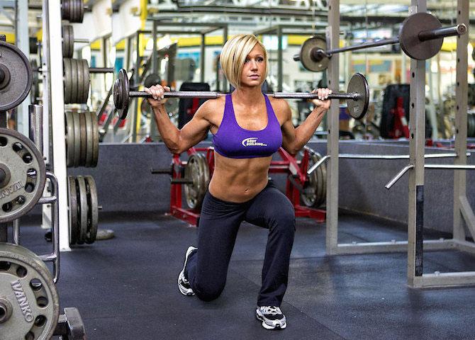 Jamie Eason gym workout.