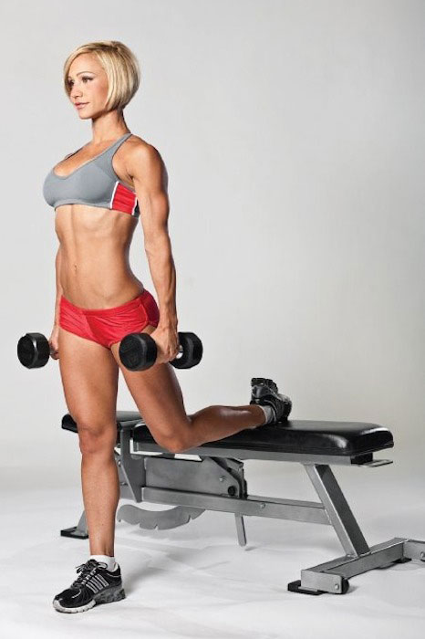 Jamie Eason working out