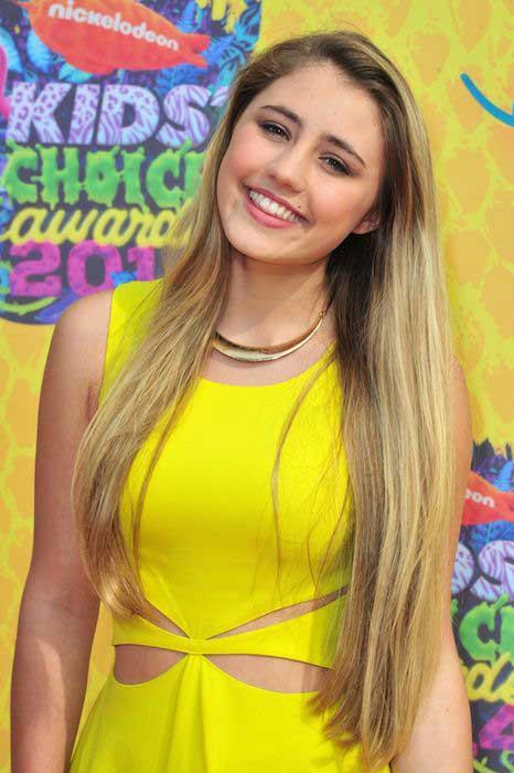 Lia Marie Johnson at Nickelodeon's Kids Choice Awards 2014.