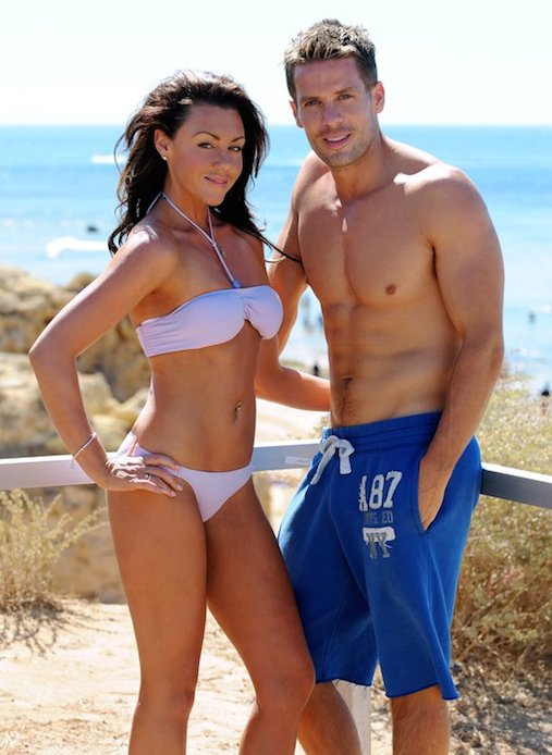Hot and sexy wife Michelle Heaton with her topless husband Hugh Hanley