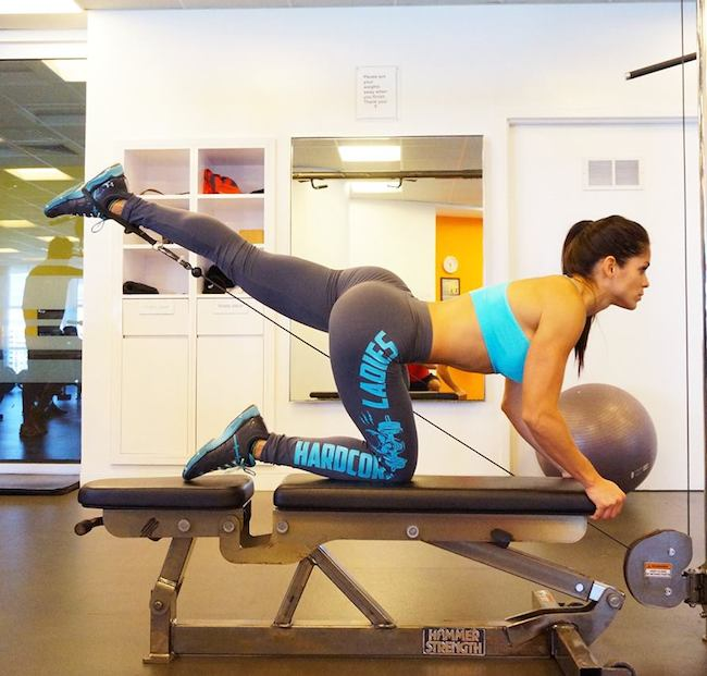 Michelle Lewin working out