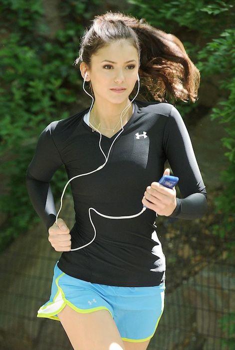 Nina Dobrev running