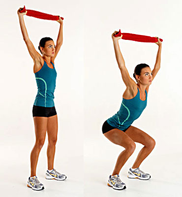 Overhead Squat with towel squat position