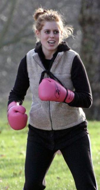 Princess Beatrice boxing workout.