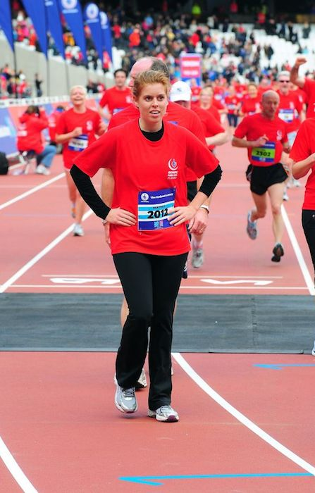 Princess Beatrice competes in National Lottery Olympic Park Run.