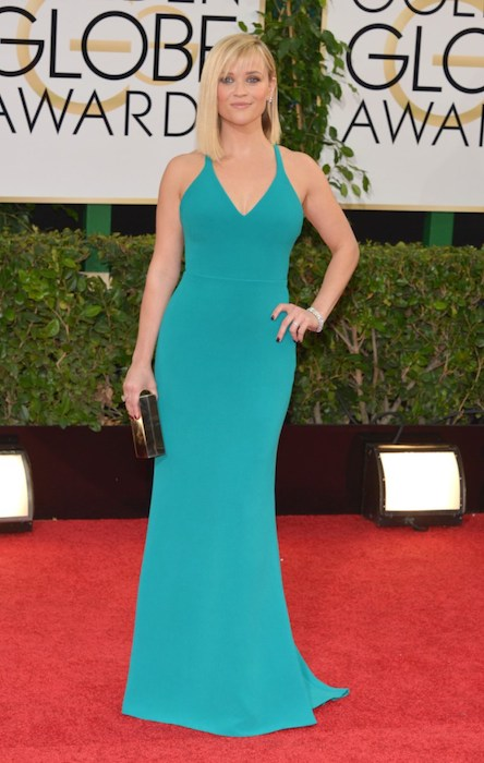 Reese Witherspoon at Golden Globe Awards 2014.