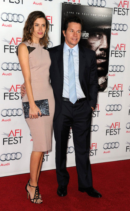 "Rhea Durham and Mark Wahlberg attend the premiere for ""Lone Survivor"" during AFI FEST 2013 presented by Audi at TCL Chinese Theatre."