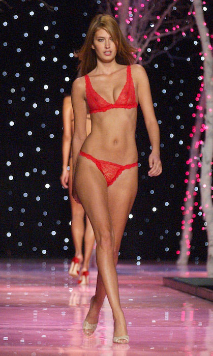 Rhea Durham during 2001 Victoria's Secret fashion show.