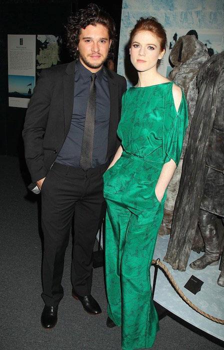 Rose Leslie and Kit Harington.