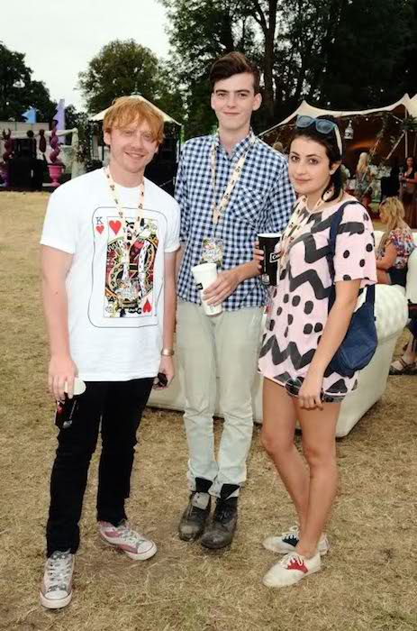 Rupert Grint (Extreme Left), and Georgia Groome (Right)