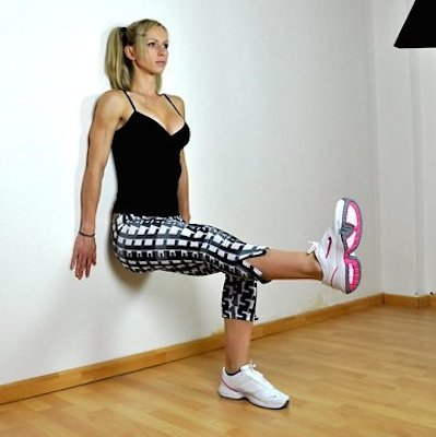 Single leg Isometric Wall Squat