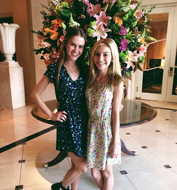 Taylar Hender with G. Hannelius during Easter 2014.