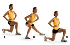 Three point multidirectional lunge
