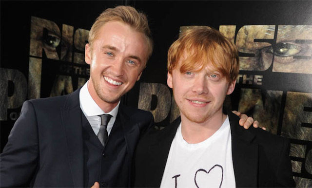 Tom Felton and Rupert Grint.