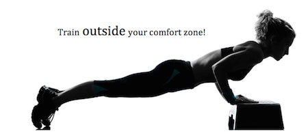 Train outside your comfort zone