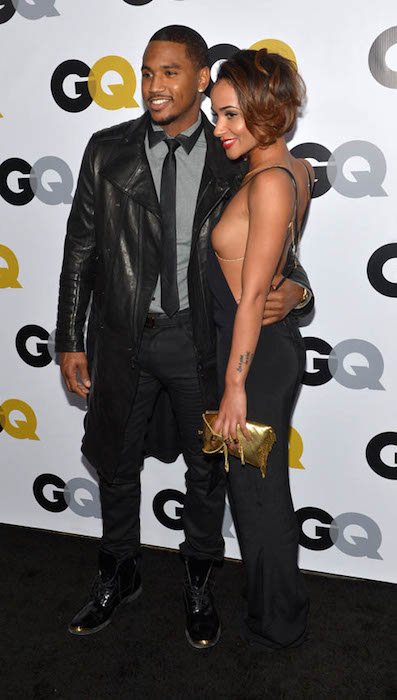 "Trey Songz and Tanaya attends ""GQ Men Of The Year"" Party at The Ebell Club."