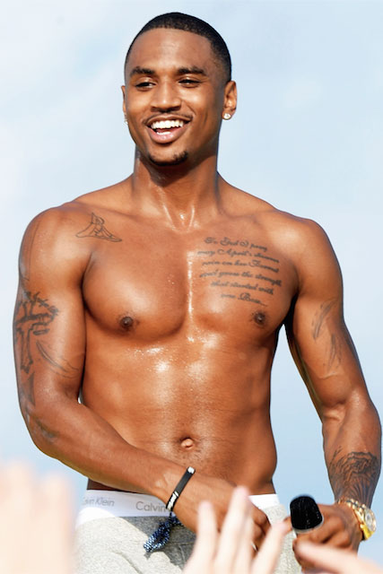 Trey Songz body shirtless